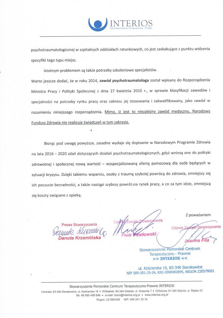 Pismo do Ministerstwa Zdrowia str.3